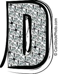 Diamond Font letter D