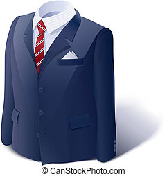 Jacket and shirt. Business suit. Eps10 vector illustration....