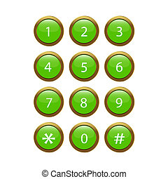 Green Phone Keypad