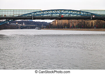Pushkinsky bridge across the Moscow River - Pushkinsky...