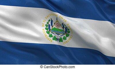 Flag of El Salvador seamless loop - Flag of El Salvador...