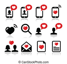 Love, Valentine's Day icons set