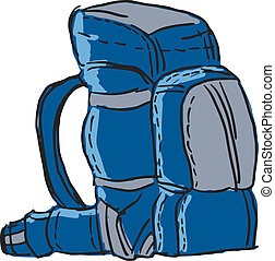 Clip art et illustrations de havresac 8 163 dessins et - Coloriage sac a dos ...
