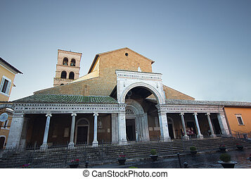 Civita Cathedral facade - The medieval cathedral of Civita...