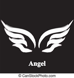 Vector illustration of angel icon