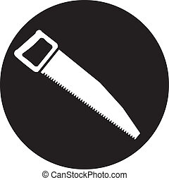 vector icon of hand saw