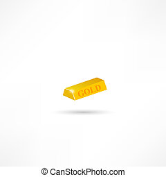 gold bar isolated on white background