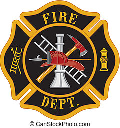 Fire Department Maltese Cross - Fire department or...