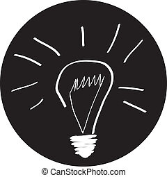 Creative idea in bulb shape as inspiration concept. Vector...