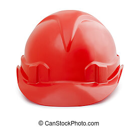 Safety helmet - Red constuction safety helmet isolated on...
