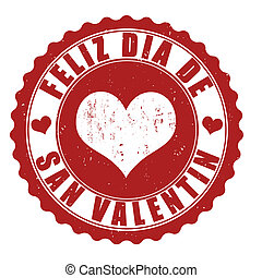 Happy valentine's day stamp - Happy valentine's day grunge...