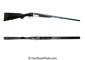 Side by side shot gun - An old 16-gauge side by side...