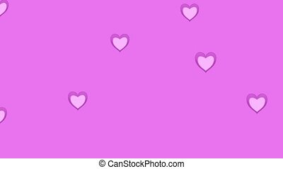 Holiday background with glowing hearts