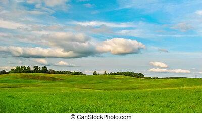 summer Landscape,  timelapse