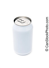 Single beverage can - A single, blank, beverage can on a...