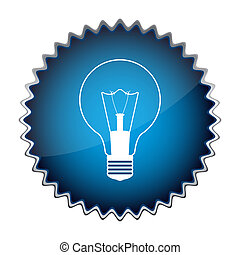 blue button with the light bulb