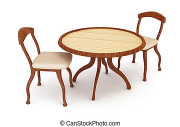 Stühle clipart  Clipart von holztisch, stühle - Wooden, tisch, und, chairs ...