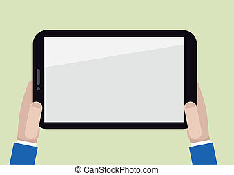 blank horizontal tablet