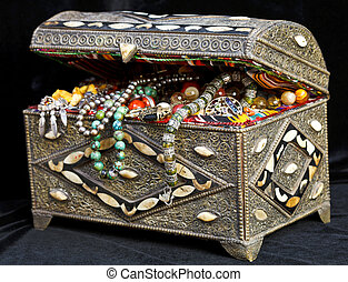 ancient arabic treasure chest - ancient east treasure chest...