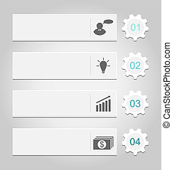 Illustration modern design templates, can be used for infographics, numbered banners - vector