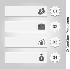 Number options banner for your infographics - Illustration...
