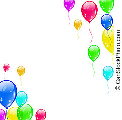Set colourful flying balloons for your party