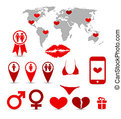 Valentine's Day infographics and design elements