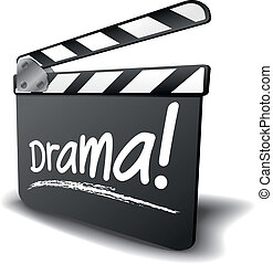 clapper board drama - detailed illustration of a clapper...
