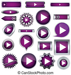Play a set of purple buttons