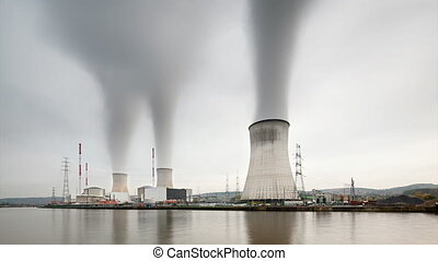 Nuclear Power Station Time Lapse - Long exposure time lapse...