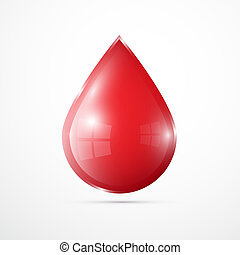 Vector Blood Drop Isolated on White Background