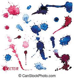 watercolor vector spots