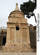 Absalom tomb. Jerusalem. Israel - This complex is not a...