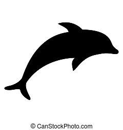 silhouette, delfin