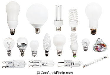 incandescent, compact fluorescent, - set of incandescent,...