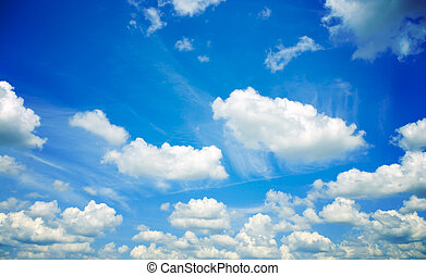 clouds  - Beautiful blue sky and white clouds