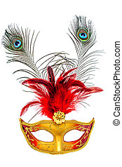 Carnival mask - Colorful carnival mask on a white background