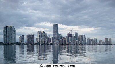 Miami, Florida city skyline