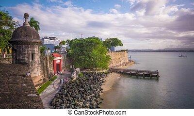 San Juan, Puerto Rico time lapse at Paseo de la Princessa