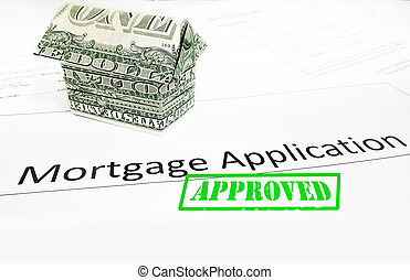 mortgage app approval - A mortgage application with an...