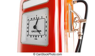 vintage gasoline fuel pump 3d Illustrations on a white...