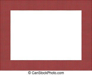 Red Polka Dot Frame Background with center isolated for...