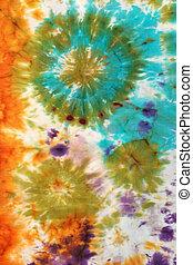 abstract pattern on handmade silk batik - abstract nodular...