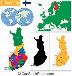 carte, finlande
