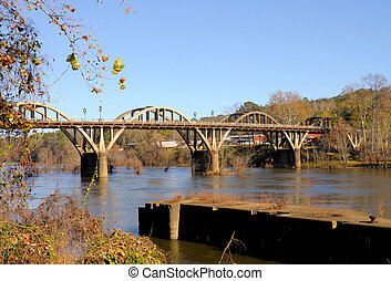 Bridge in the Winter - Bibb Graves Bridge over the Coosa