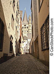 Backstreet of Cologne - A backstreet in Cologne, Germany