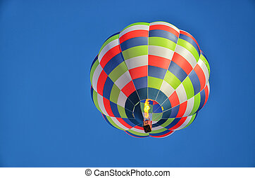 Lonely Hot Air Balloon 2 - Multicolored and Striped Hot Air...