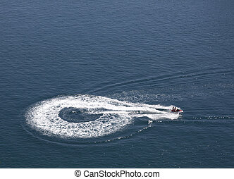 jetski in blue water