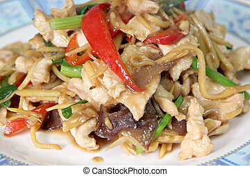 Ginger Chicken Stir Fry.