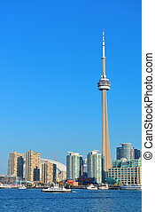 Toronto skyline in the day - Toronto skyline panorama over...